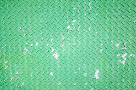 Background of metal diamond plate in green color