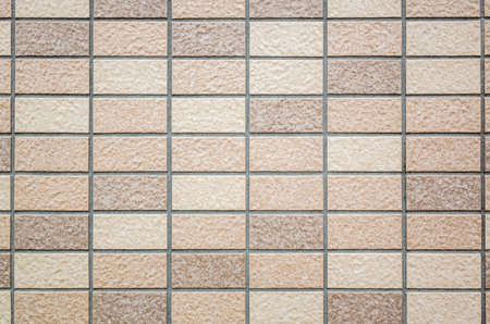square mosaic background of tiles texture in brown color Banco de Imagens