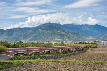 landscape of Er Ceng Ping Shui Bridge at Luye, Taitung, Taiwan Stock fotó