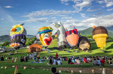 Taitung, Taiwan - July 4, 2018: Taiwan International Balloon Festival at Luye highland Editorial