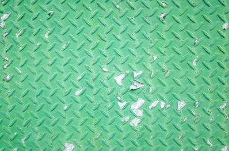 background of metal diamond plate in green color Zdjęcie Seryjne
