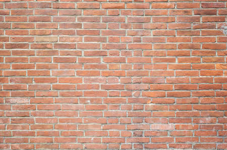 background of red bricks wall with good texture