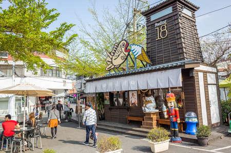 Nantou, Taiwan - March 2nd, 2019: famous shop of Feeling18 Chocolate Shop at Puli, Nantou, Taiwan, Asia