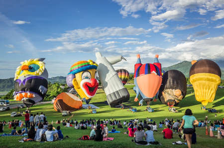 Taitung, Taiwan - July 4, 2018: Taiwan International Balloon Festival at Luye highland Editorial