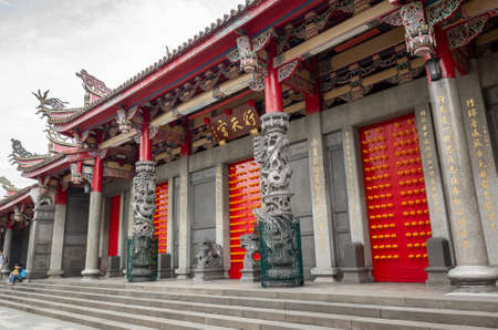 Taipei, Taiwan - Jun 6th, 2019: famous temple of HSING TIAN KONG at Taipei, Taiwan