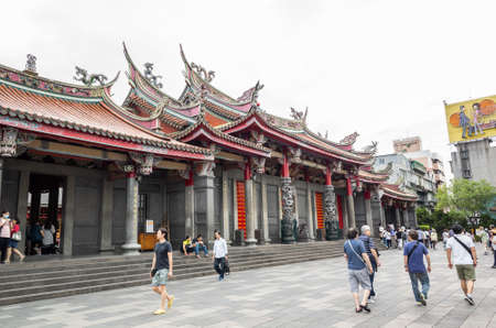 Taipei, Taiwan - Jun 6th, 2019: famous temple of HSING TIAN KONG at Taipei, Taiwan Banco de Imagens - 124999032