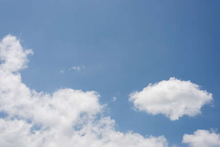 nature background of white clouds on blue sky