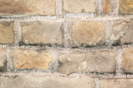 aged yellow brick wall with good texture