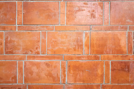 aged red bricks wall with good weathered texture