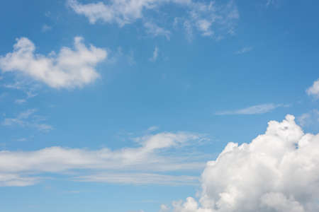 clouds on blue sky, nature cloudy background with copyspace