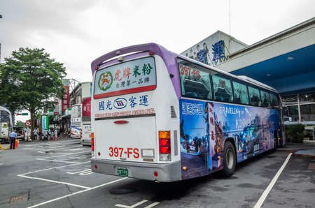 Taichung, Taiwan - August 16th, 2019: taichung chaoma long distance intercity bus station with Kuo-Kuang Motor, Taiwan