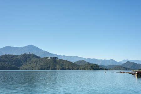 landscape of Sun Moon Lake at Nantou, Taiwan