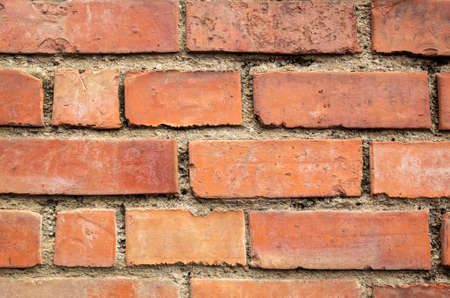 red brick wall background in the outdoor 写真素材 - 130040611