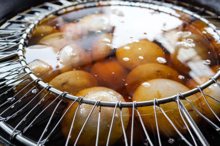 taiwan meatballs in the hot oil, traditional taiwanese snacks Reklamní fotografie