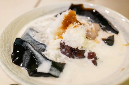 cold shaved ice , famous Taiwan snacks