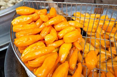 traditional Taiwanese snacks of Honey Sweet Potatoes at Taiwan
