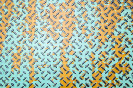 background of metal diamond plate in brown color