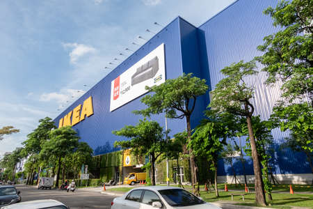 Taichung, Taiwan-June 30th, 2020: IKEA Superstore the famous furniture store supermarket at Taichung, Taiwan, Asia
