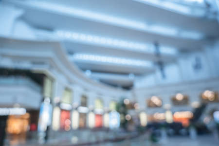 background of shopping mall in blurred, shallow depth of focus Zdjęcie Seryjne