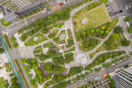 aerial view of a park in the city Stockfoto