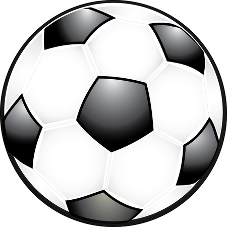 Classic black and white soccer ball Illustration