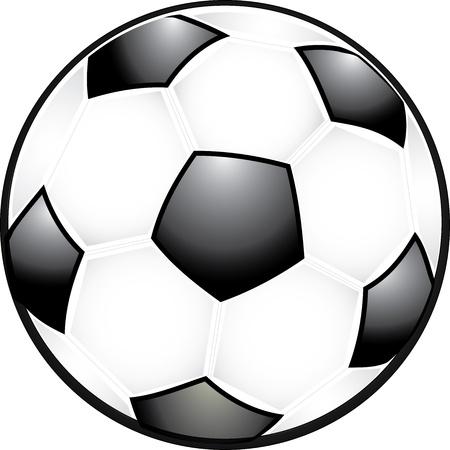 Classic black and white soccer ball Ilustração