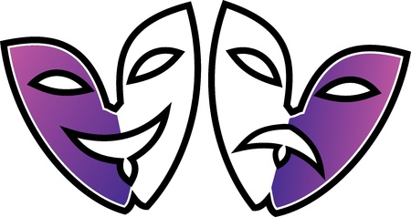 Classic greek teathre happiness and sadness masks Stock Vector - 10002894