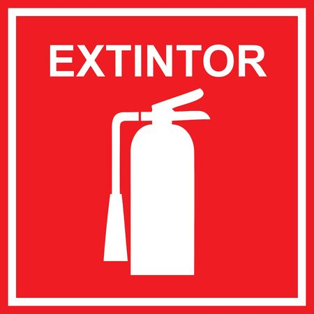 emergency exit: Classic Extinguisher sign