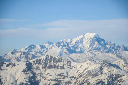 blanc: Mont Blanc summit in the Alps in France Stock Photo