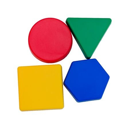 Colourful geometric shapes Stock Photo