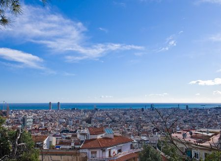 View over Barcelona photo