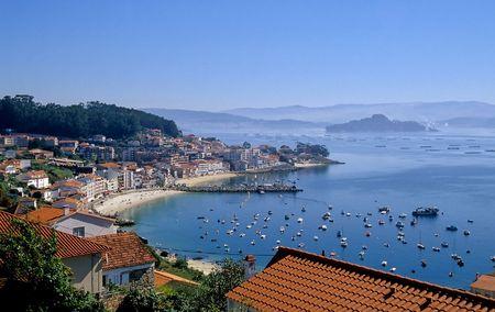 Granxa und der Ria de Pontevedra Standard-Bild
