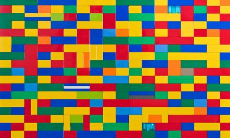 Plastik: Toy brick wall in different colours