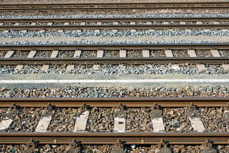 Parallel railroad tracks Imagens