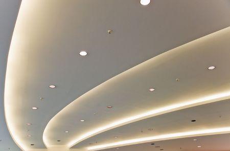 interior lighting: White modern ceiling