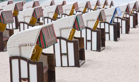reprimanding: Beach chairs Stock Photo