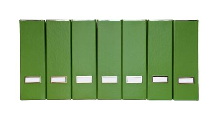 Isolated green magazine files photo