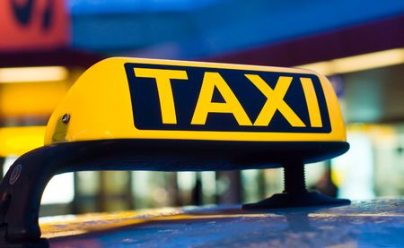 Taxi sign Imagens - 7783591