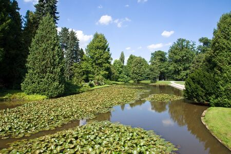 bundesgartenschau: Day in the park Stock Photo