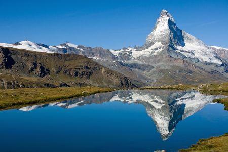 Das Matterhorn mit Stelisee  Standard-Bild