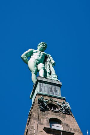 Herkules Statue in Kassel in the heart of Germany Imagens - 7885168