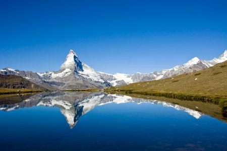 Panorama op de Matterhorn Stockfoto