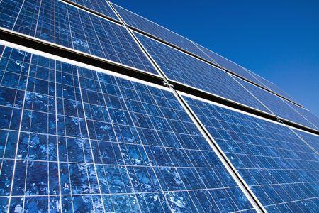 Closeup of a solar panel Stock Photo - 8261480