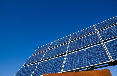 Solar energy panel in front of a blue sky Stock Photo - 8261542