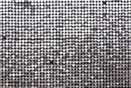 silver circle: Glittering wall Stock Photo