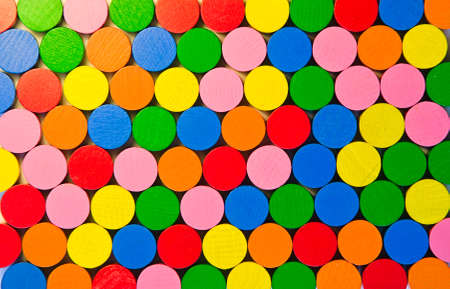 tokens: Colourful round wooden tokens Stock Photo