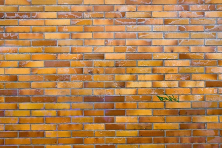 clinker: Dirty muro di mattoni di clinker Archivio Fotografico