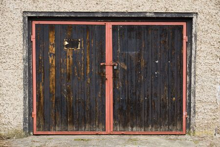 Old garage door in east germany photo