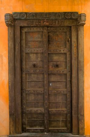 old door: Beautiful wooden door Stock Photo