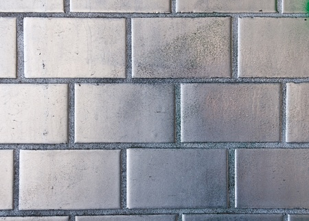 Silver painted brickwall photo